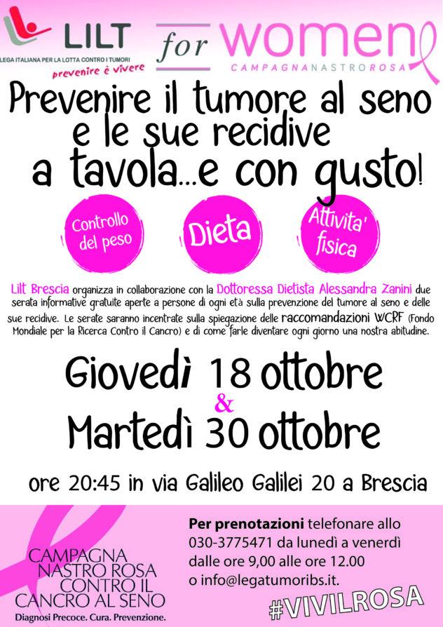 dieta per prevenire il cancro al seno