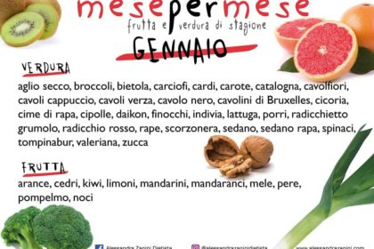 Stagionalità di frutta e verdura: GENNAIO